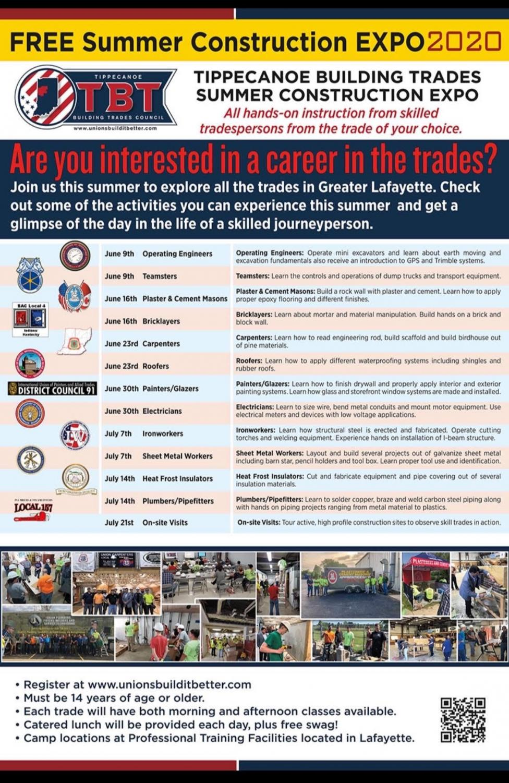Tippecanoe+Building+Trades+Summer+Expo+Information
