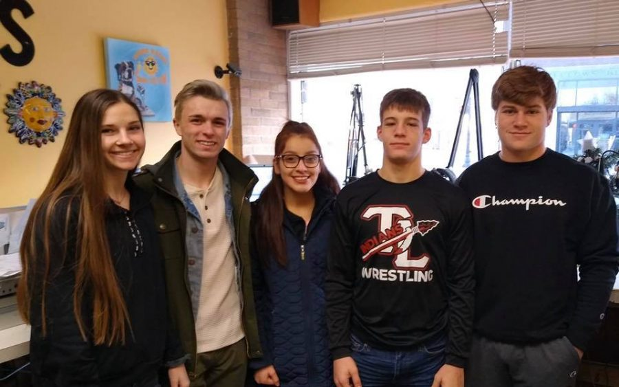 Marketing students Sadie Gritten, Dylan Comer, Britney Martinez, Anthony Pulliam, Zach Keesling report the Tribe Radio Show.