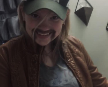 """Ryleigh Phillips let boredom get the best of her and dressed herself up as the """"Joe Exotic"""" from the new Netflix series """"Tiger King""""."""
