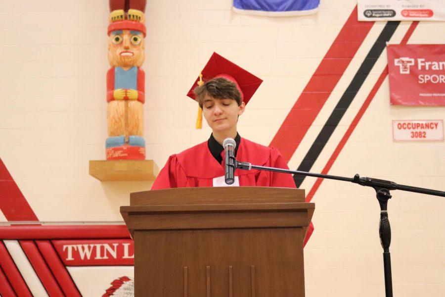 Senior Class President Miles Ademi