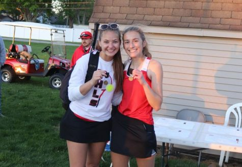 Girls Tennis #1 Doubles Wins Hoosier Conference