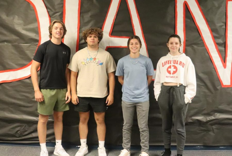 Alex Paluchniak, Trenten Doyle, Lilly Foster, Alexis Baldini and not pictured Shyanne Craig produced the first Tribe Radio episode of the 2021-2022 school year.