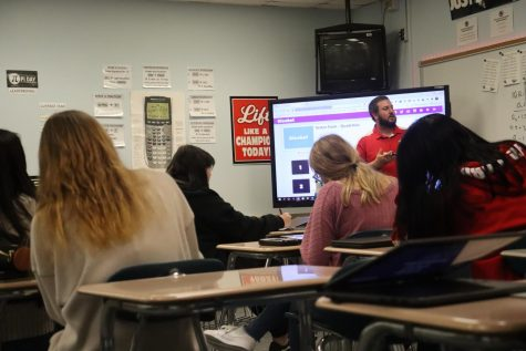 Students In Mr. Tinichs math class are preparing for a review game of Kahoot. The students love Kahoot as it is a fun and interactive way to review material.